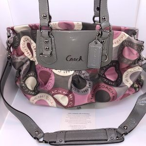 Coach Fabric & Patent Leather Handbag
